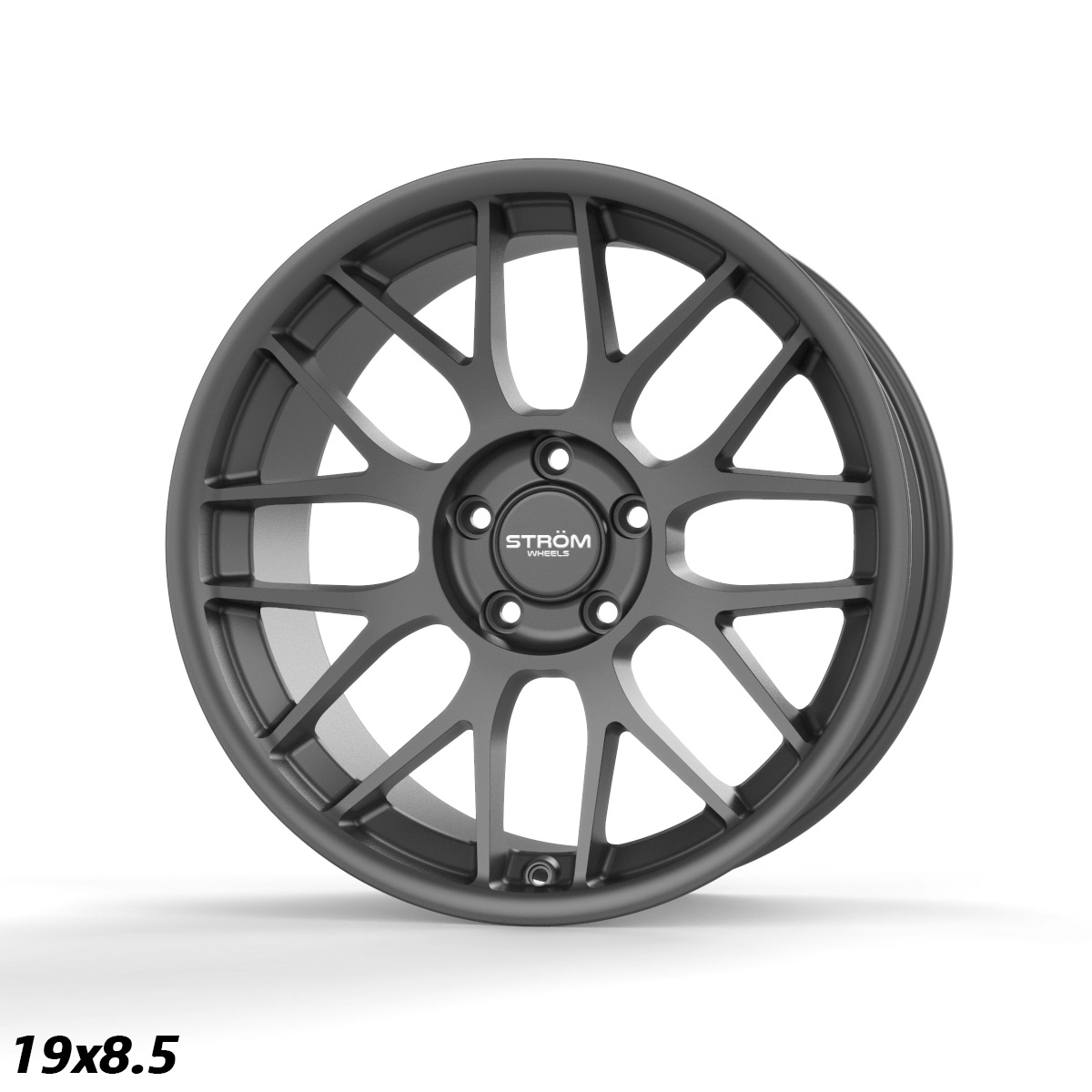 "NEW 19"" STROM STR2 ALLOY WHEELS IN GLOSS GUNMETAL WITH DEEPER CONCAVE 9.5"" REARS"