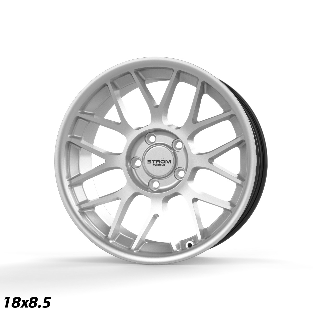 "NEW 19"" STROM STR2 ALLOY WHEELS IN HYPER SILVER WITH DEEPER CONCAVE 9.5"" OR 10"" REARS"