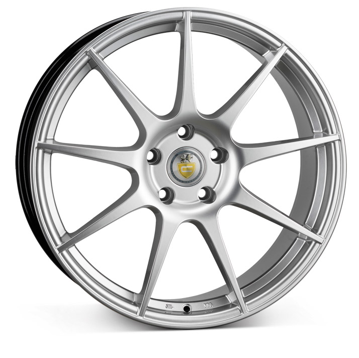 "NEW 18"" CADES TORA ALLOY WHEELS IN HYPER SILVER et45"