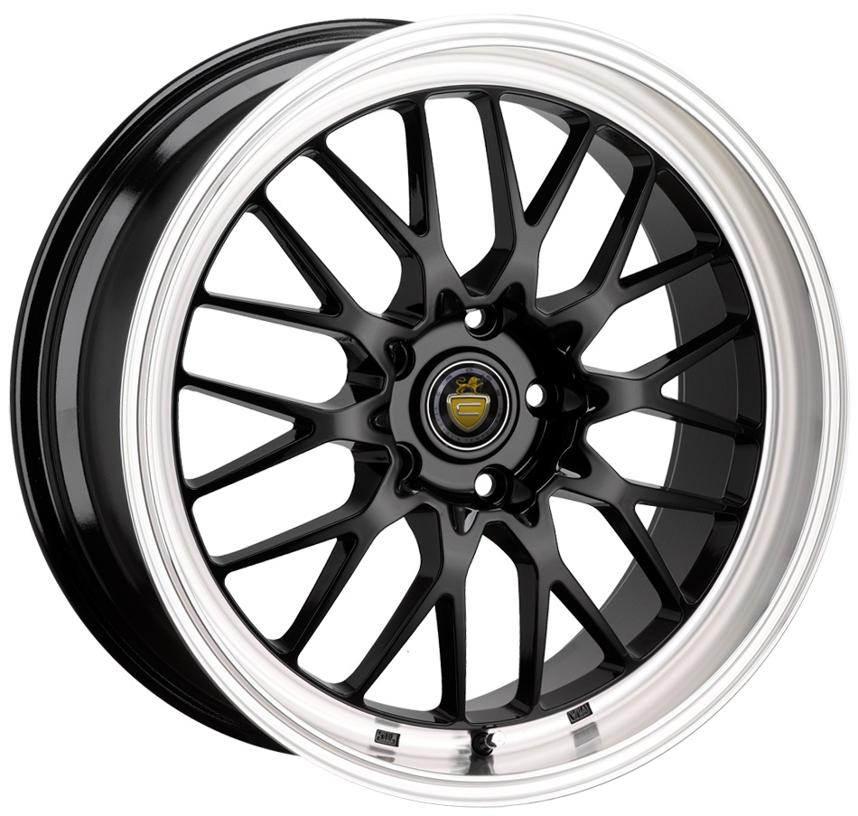"NEW 18"" CADES TYRUS GLOSS BLACK ALLOYS, VERY DEEP DISH 9"" REAR"
