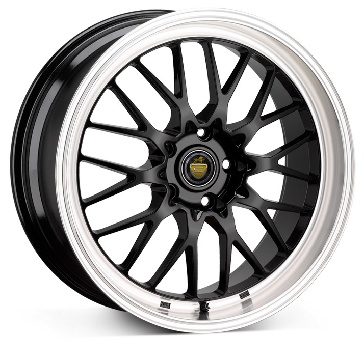 "NEW 19"" CADES TYRUS GLOSS BLACK ALLOYS, VERY DEEP DISH 9.5"" REAR"
