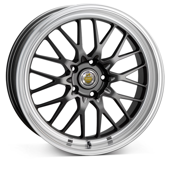 "NEW 19"" CADES TYRUS GUNMETAL ALLOYS,VERY DEEP DISH 9.5"" REAR"