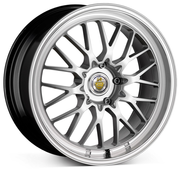 "NEW 19"" CADES TYRUS DEEP DISH MESH ALLOYS WIDER REAR et45/45"