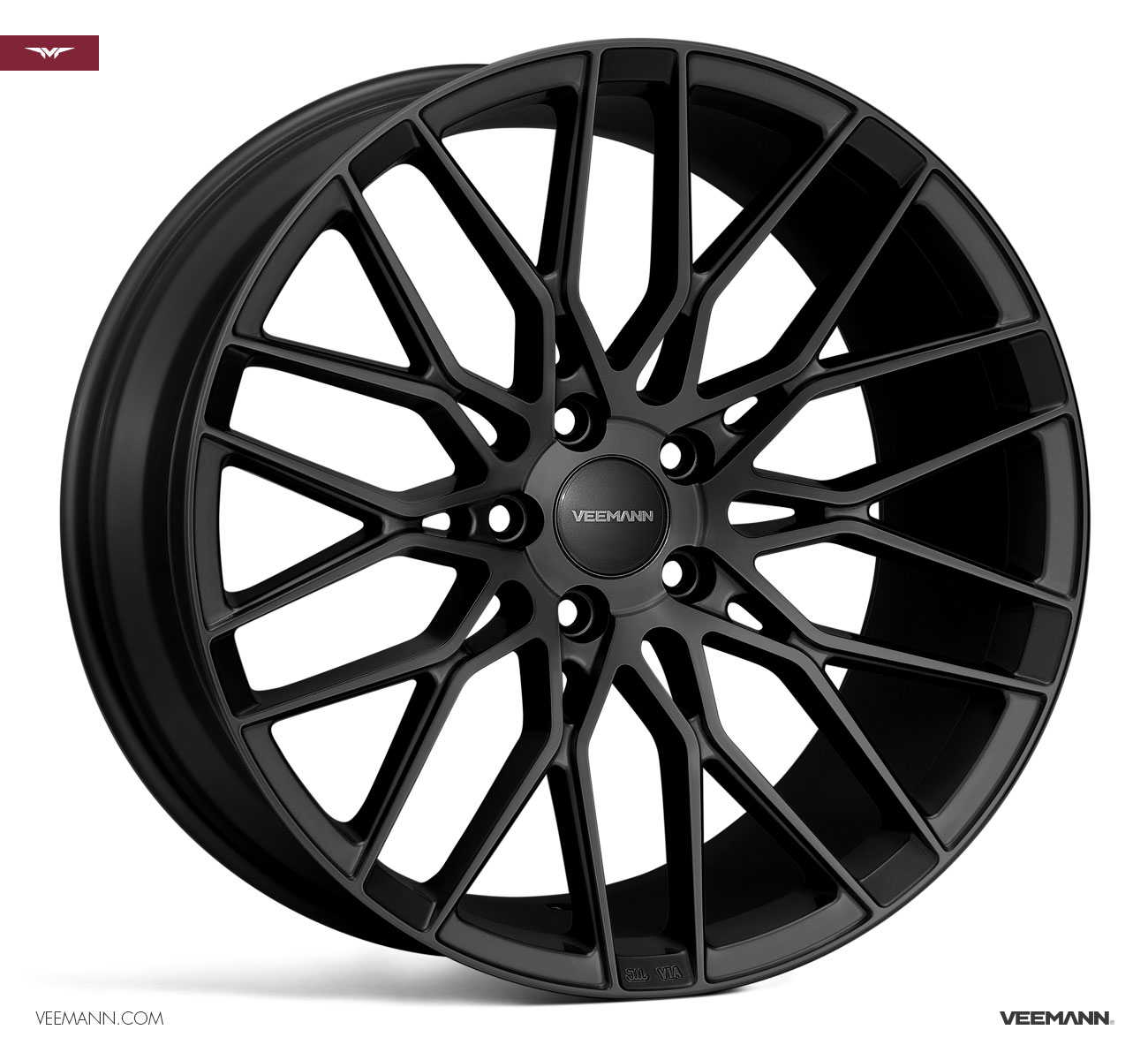 "NEW 20"" VEEMANN V-FS34 ALLOYS IN MATT BLACK WITH WIDER 8.5"" REARS"