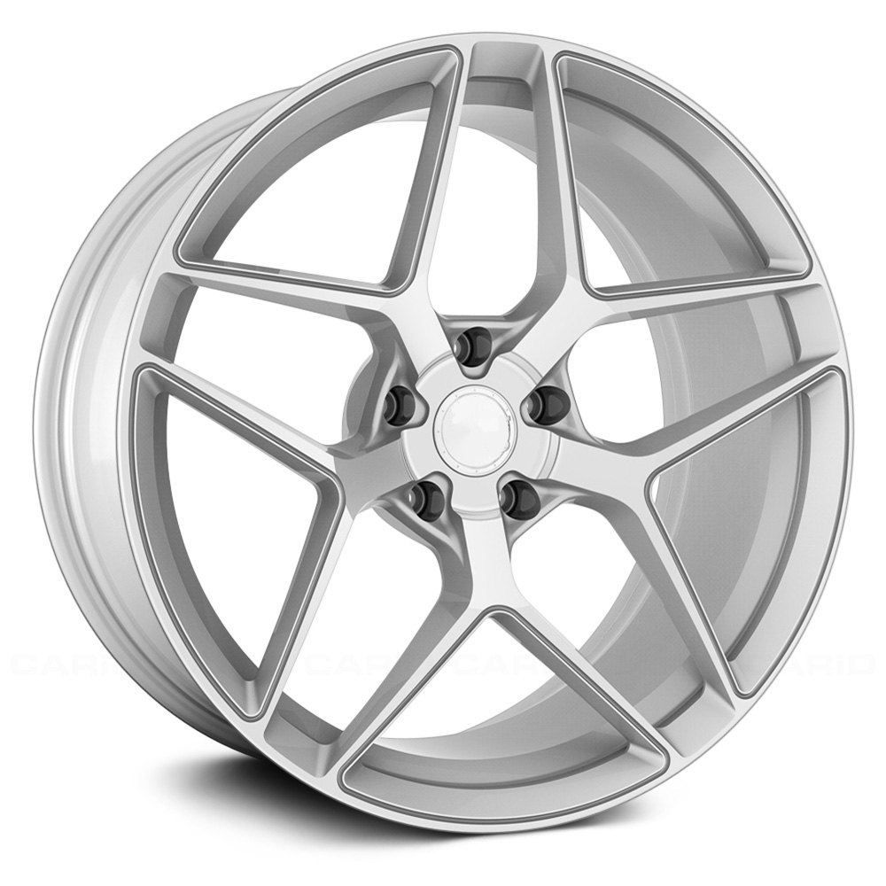 "NEW 20"" VEEMANN VC650 ALLOYS IN SILVER POLISHED WITH WIDER 10"" REARS"