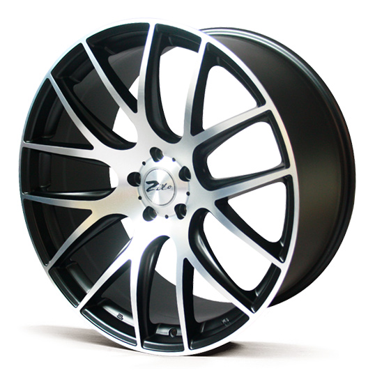 "NEW 19"" ZITO 935 CSL GTS ALLOY WHEELS, GLOSS BLACK WITH POLISHED FACE, VERY DEEP CONCAVE 9.5"" REARS"