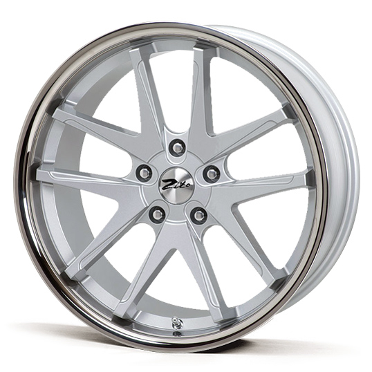 "NEW 19"" ZITO DEEPSTAR SNA STYLE CONCAVE ALLOY WHEELS IN SILVER WITH S/STEEL DISH et35 or et25"