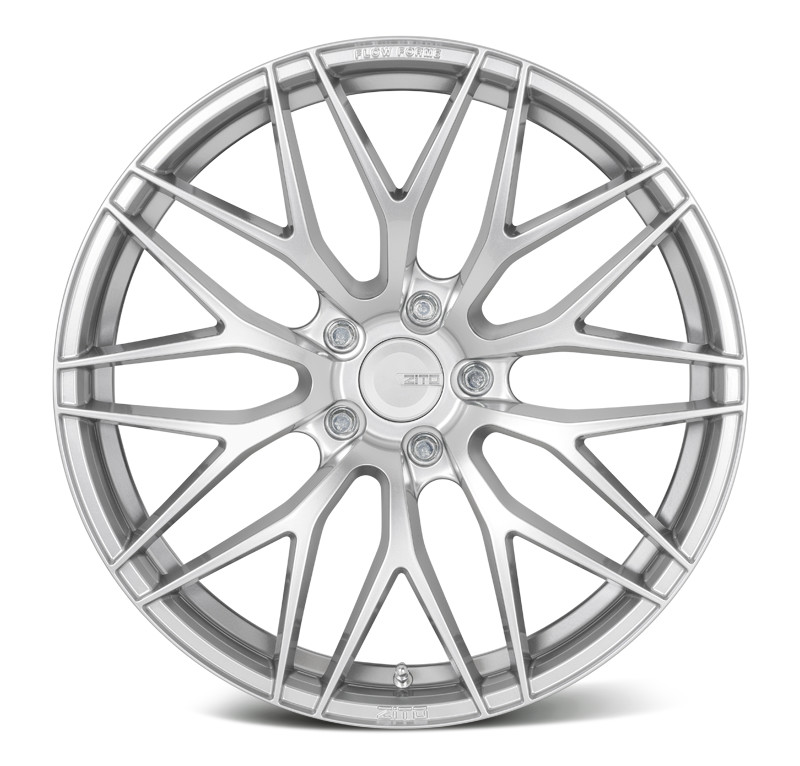 "NEW 18"" ZITO ZF01 FLOW FORMED ALLOY WHEELS IN HYPER SILVER WITH DEEPER CONCAVE 9.5"" REAR"