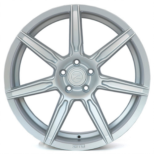 "NEW 20"" ZITO ZS07 ALLOYS IN MATT SILVER WITH DEEPER CONCAVE 11"" REAR"